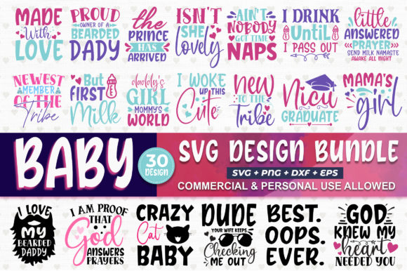 Print on Demand: Baby Design Bundle Graphic Crafts By SubornaStudio