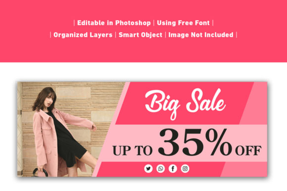 Download Free Banner Big Sale Pink Template Graphic By Ant Project Template for Cricut Explore, Silhouette and other cutting machines.