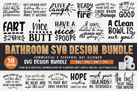 Download Free Bathroom Bundle Graphic By Subornastudio Creative Fabrica for Cricut Explore, Silhouette and other cutting machines.