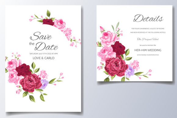 Download Free Elegant Wedding Invitation Graphic By Dinomikael01 Creative for Cricut Explore, Silhouette and other cutting machines.
