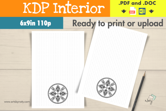 Print on Demand: Bullet Journal with Mandala to Color Graphic KDP Interiors By artsbynaty