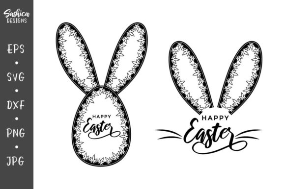 Download Free Bunny Ears And Easter Egg Graphic By Sashica Designs Creative for Cricut Explore, Silhouette and other cutting machines.