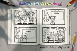 Coloring Book - Back to School Graphic Coloring Pages & Books Kids By BUNNY BOOK