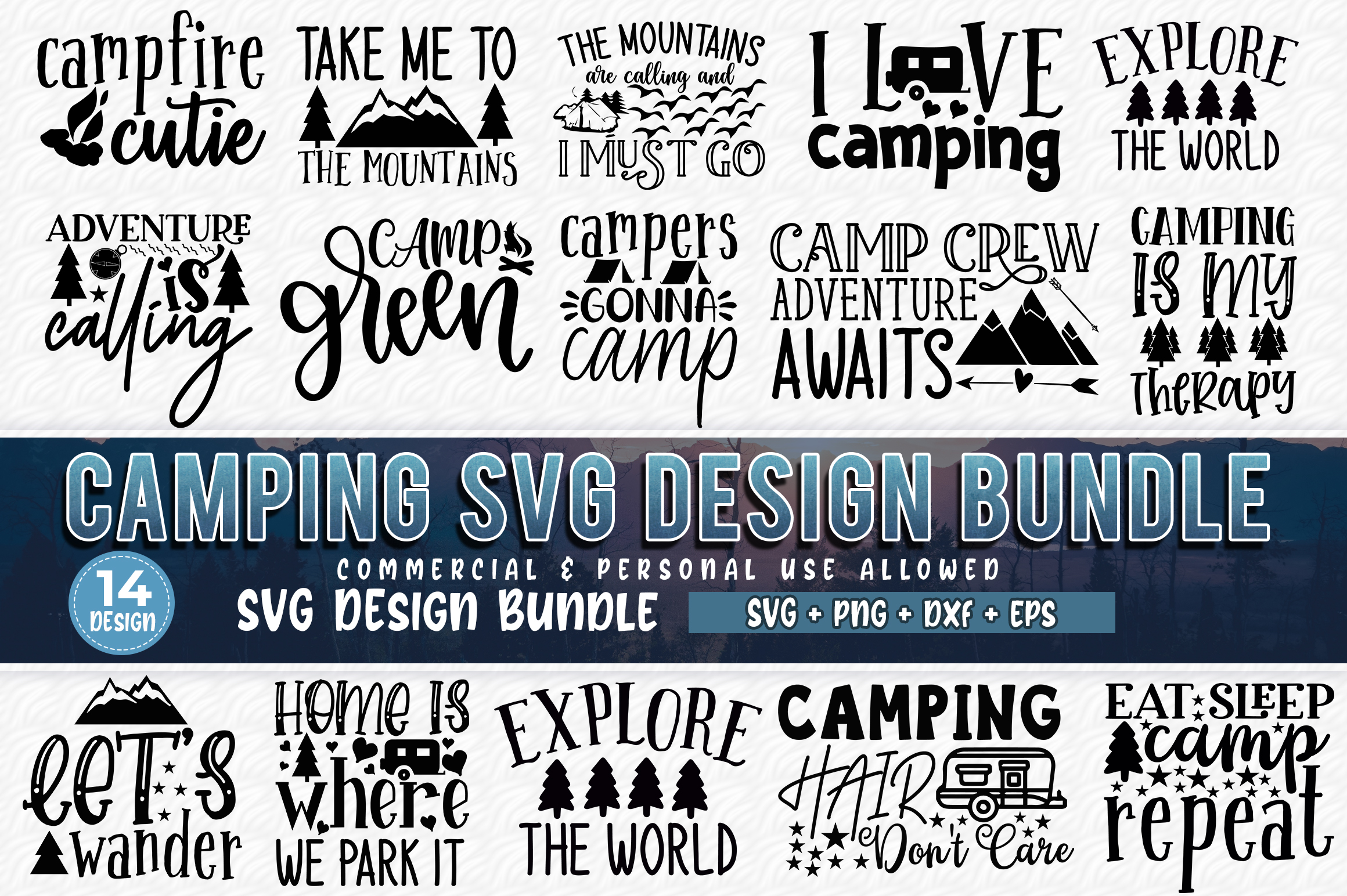 Camping Bundle Graphic By Subornastudio Creative Fabrica
