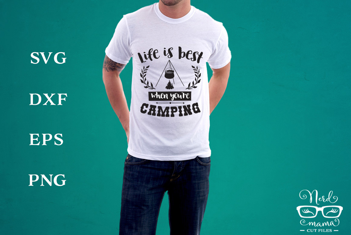 Download Free Camping Graphic By Nerd Mama Cut Files Creative Fabrica for Cricut Explore, Silhouette and other cutting machines.