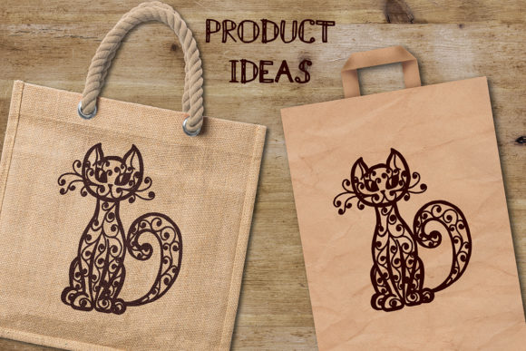 Download Free Cat Cutting Template Graphic By Av Design Creative Fabrica for Cricut Explore, Silhouette and other cutting machines.