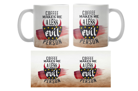 Coffee Mug Sublimation Graphic Print Templates By aarcee0027