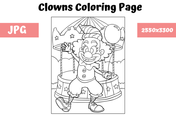 - Coloring Book Page Clown For Kids (Graphic) By MyBeautifulFiles · Creative  Fabrica