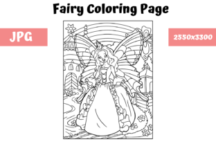 Download Free Coloring Book Page Fairy For Kids Graphic By Mybeautifulfiles for Cricut Explore, Silhouette and other cutting machines.