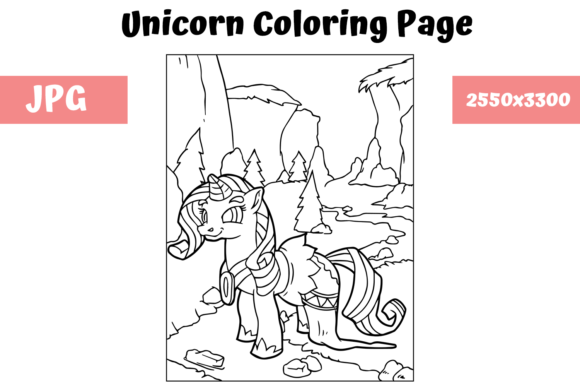 Download Free Coloring Book Page Unicorn For Kids Graphic By Mybeautifulfiles for Cricut Explore, Silhouette and other cutting machines.
