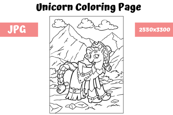 Print on Demand: Coloring Book Page Unicorn for Kids Graphic Coloring Pages & Books Kids By MyBeautifulFiles