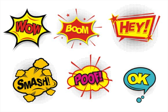 Comic Pop Art Style Graphic Icons By edywiyonopp