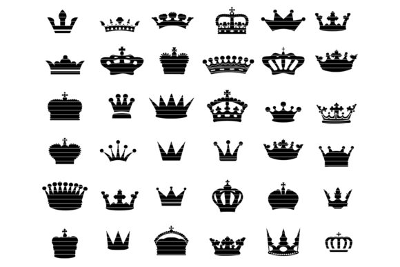 Print on Demand: Crown Clip Art Bundle Graphic Crafts By MeshaArts