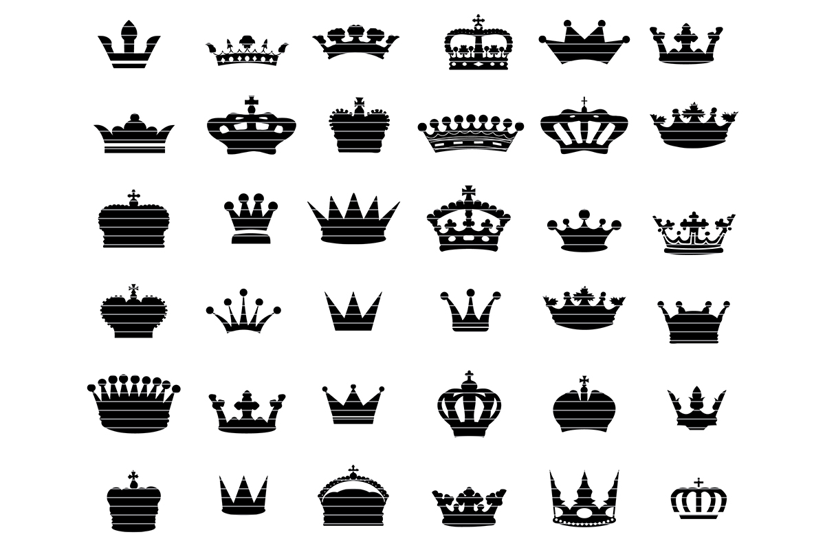 Download Free Crown Clip Art Bundle Graphic By Meshaarts Creative Fabrica for Cricut Explore, Silhouette and other cutting machines.