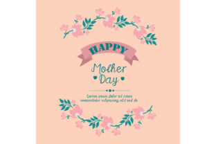Cute Of Happy Mother Day Poster Design Graphic By Stockfloral