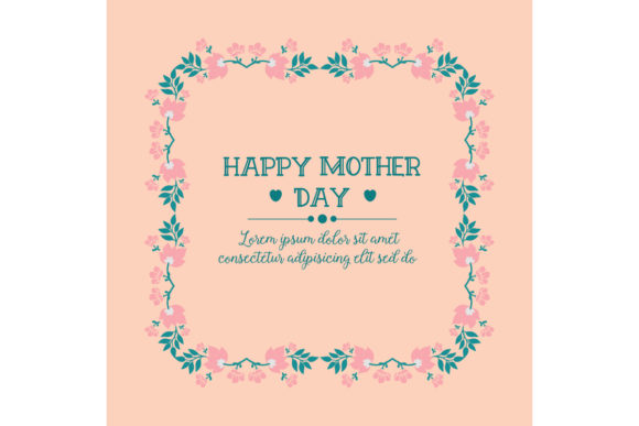 Download Free Cute Of Happy Mother Day Poster Design Graphic By Stockfloral for Cricut Explore, Silhouette and other cutting machines.
