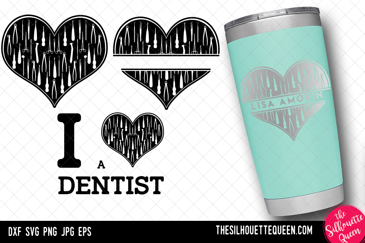 Download Free Dentist Heart Valentine Day Graphic By Thesilhouettequeenshop for Cricut Explore, Silhouette and other cutting machines.