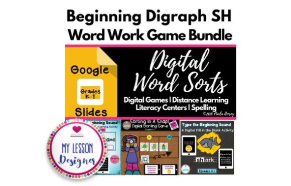 Digital Digraph SH Game Bundle Graphic 1st grade By My Lesson Designer