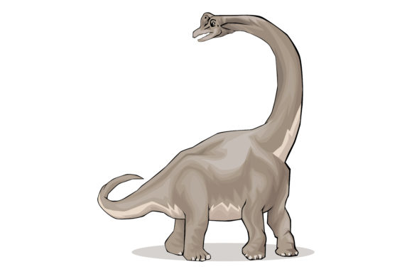 Download Free Dinosaur Silhouette Brachiosaurus Graphic By Rfg Creative for Cricut Explore, Silhouette and other cutting machines.