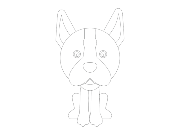 Download Free Dog Flat Design Vector Icon Outline Graphic By 1riaspengantin for Cricut Explore, Silhouette and other cutting machines.