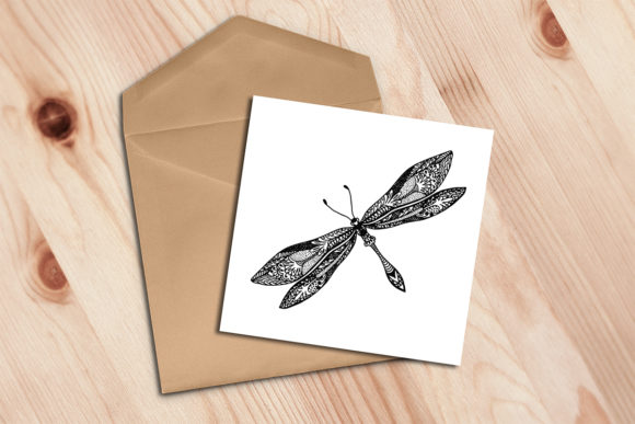 Download Free Dragonfly Template Graphic By Av Design Creative Fabrica for Cricut Explore, Silhouette and other cutting machines.
