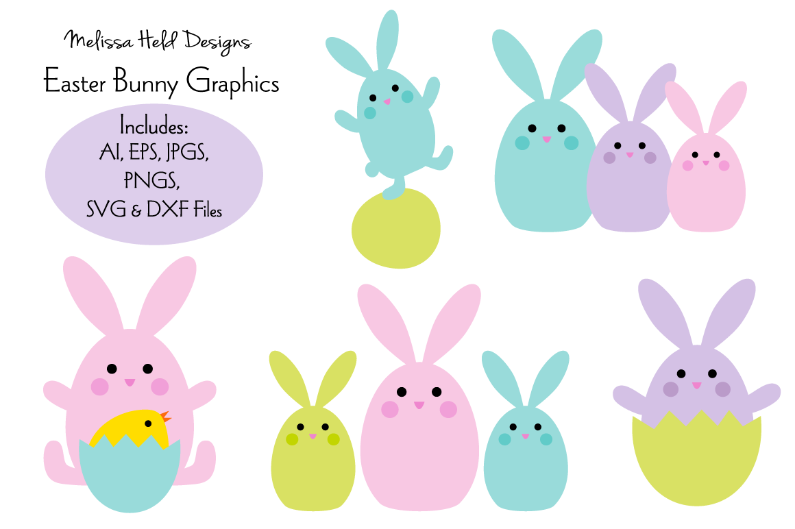 Download Free Easter Bunny Graphics Graphic By Melissa Held Designs Creative Fabrica for Cricut Explore, Silhouette and other cutting machines.