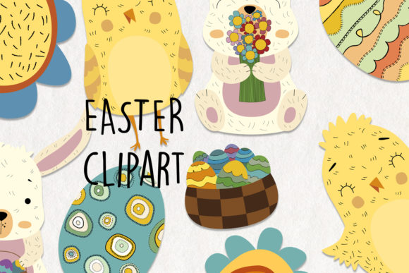 Easter Clipart. 13 Easter Digital Graphic Crafts By NotturnoClipArt