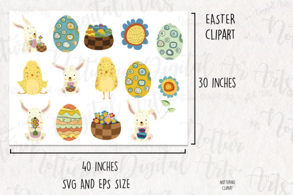 Download Free Easter Clipart 13 Easter Digital Graphic By Notturnoclipart for Cricut Explore, Silhouette and other cutting machines.