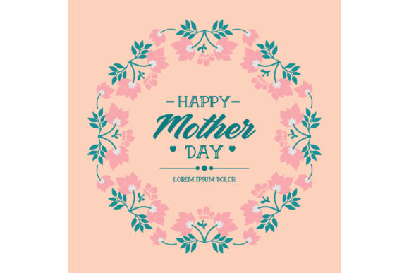 Download Free Elegant Happy Mother Day Card Design Graphic By Stockfloral for Cricut Explore, Silhouette and other cutting machines.