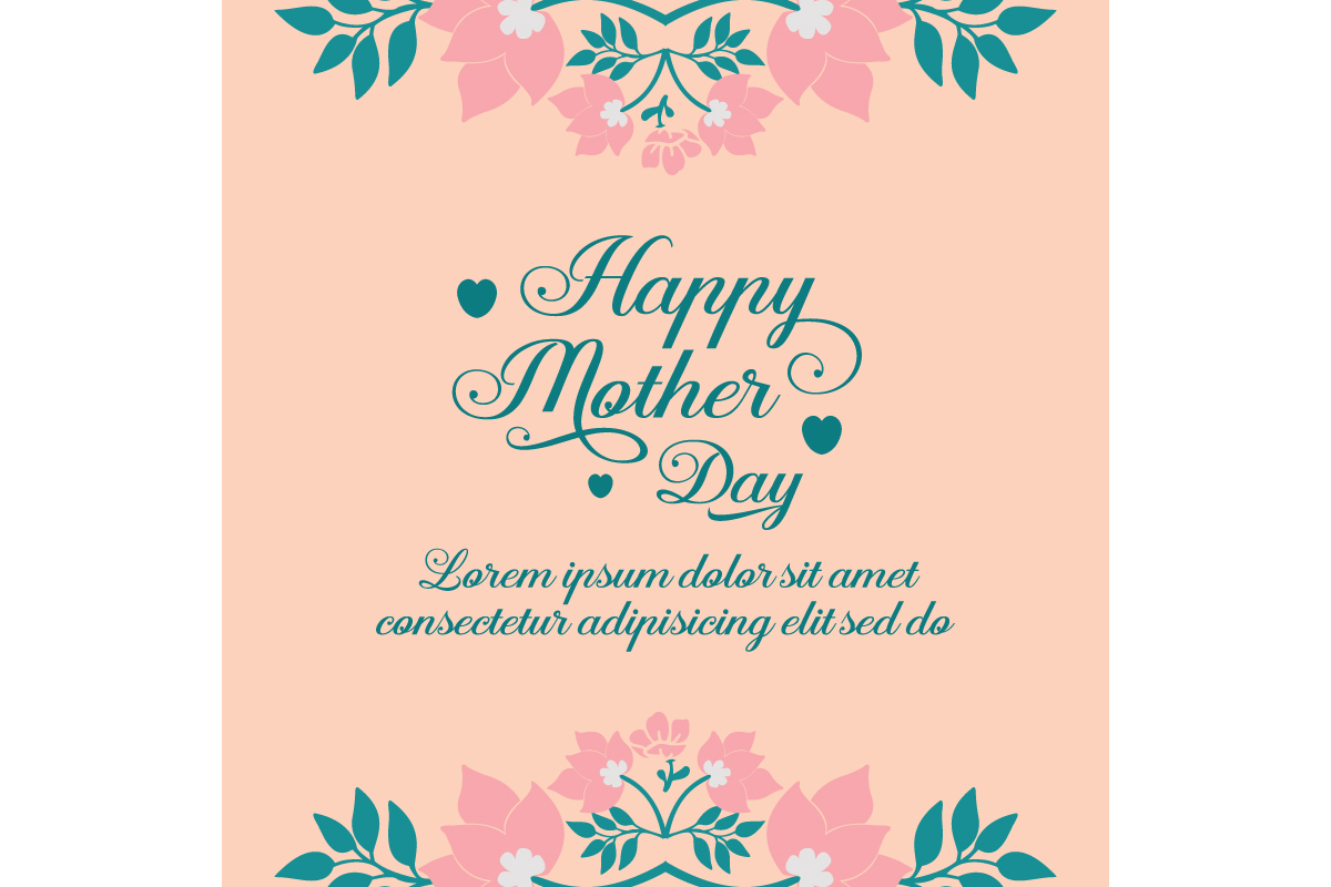 Elegant Happy Mother Day Greeting Cards Graphic By Stockfloral