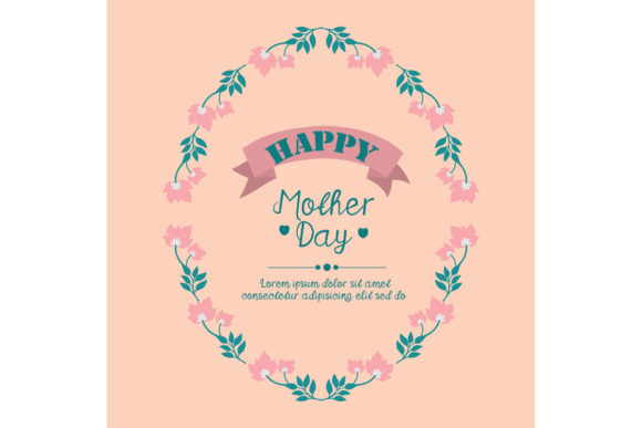Download Free Elegant Of Happy Mother Day Card Design Graphic By Stockfloral for Cricut Explore, Silhouette and other cutting machines.