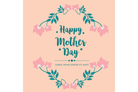 Elegant Of Happy Mother Day Card Design Graphic By Stockfloral
