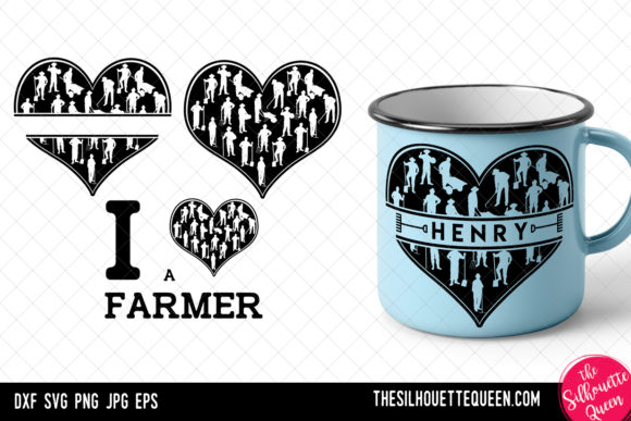 Download Free Farming Heart Valentines Day Graphic By Thesilhouettequeenshop for Cricut Explore, Silhouette and other cutting machines.