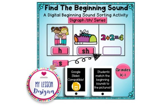 Find the Beginning Sound! Digraph Game Graphic 1st grade By My Lesson Designer