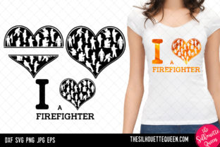 Download Free Fire Fighter Heart Svg Valentines Day Graphic By for Cricut Explore, Silhouette and other cutting machines.