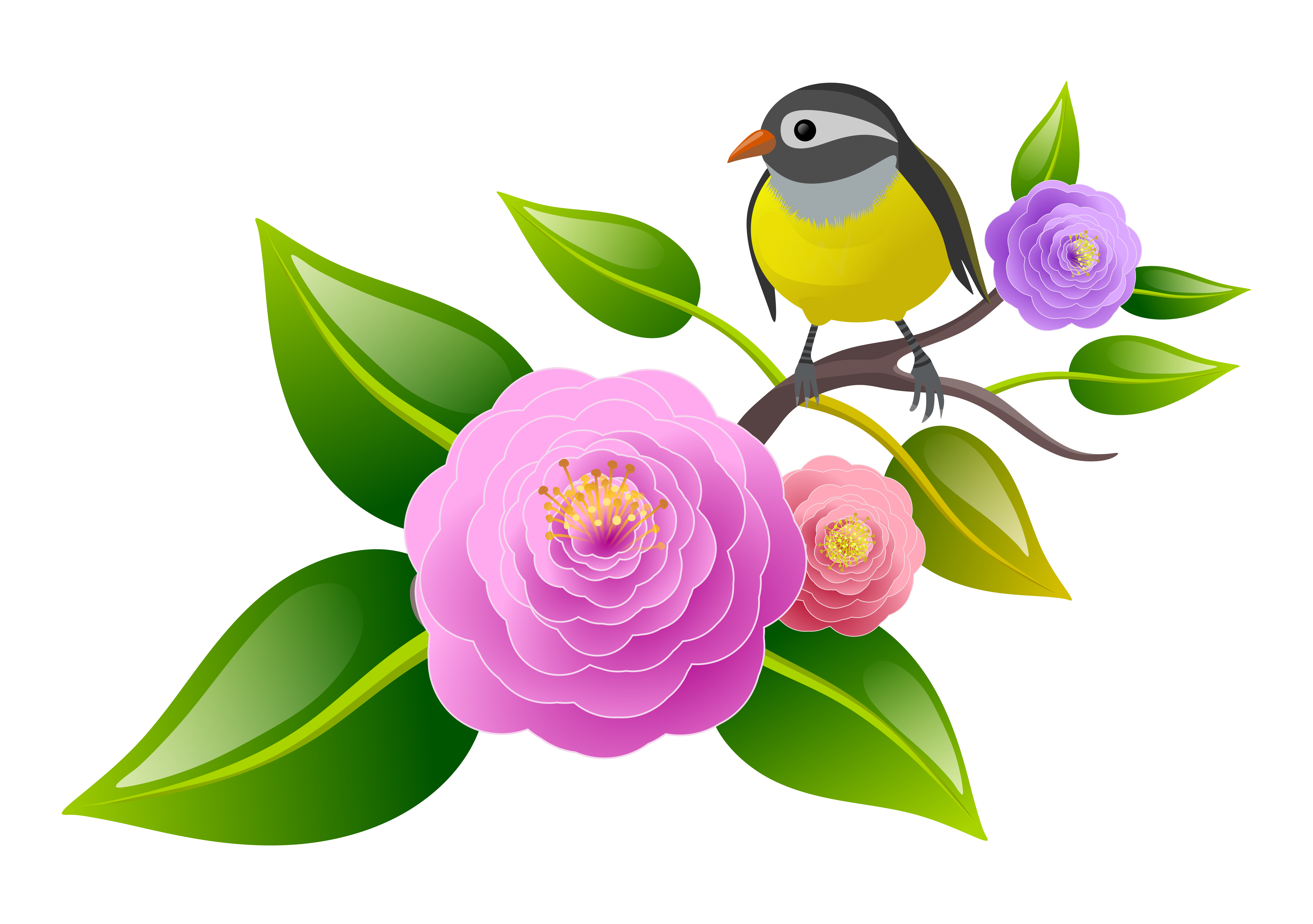 Download Free Floral Bird Graphic By Americodealmeida Creative Fabrica for Cricut Explore, Silhouette and other cutting machines.