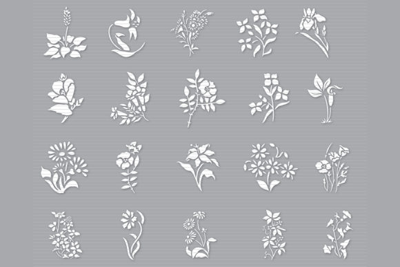 Print on Demand: Flower Clip Art Bundle Graphic Crafts By MeshaArts