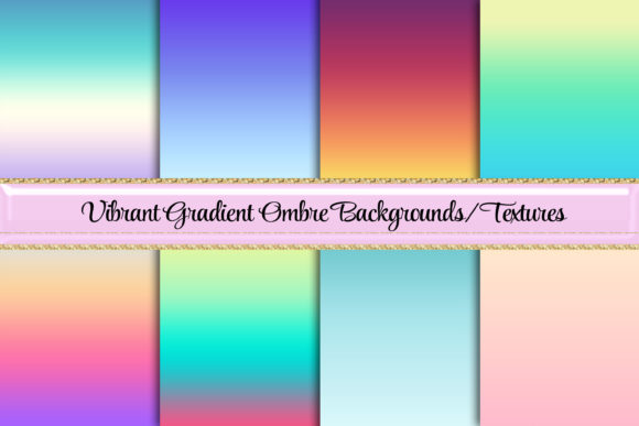 Gorgeous Gradient Ombre Backgrounds Gráfico Fondos Por AM Digital Designs