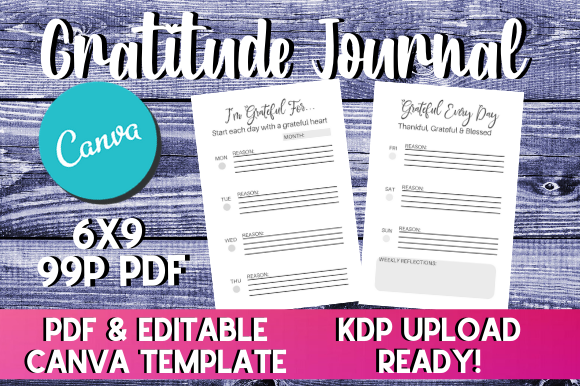 Print on Demand: Gratitude Journal | KDP LCB Interior Graphic KDP Interiors By InteriorTastic