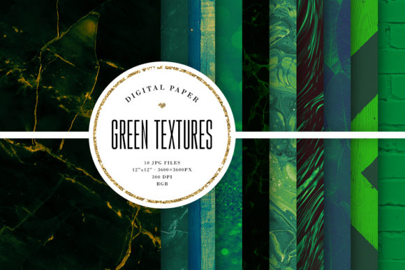 Download Free Green Textures Dark Green Digital Paper Graphic By Sabina Leja for Cricut Explore, Silhouette and other cutting machines.