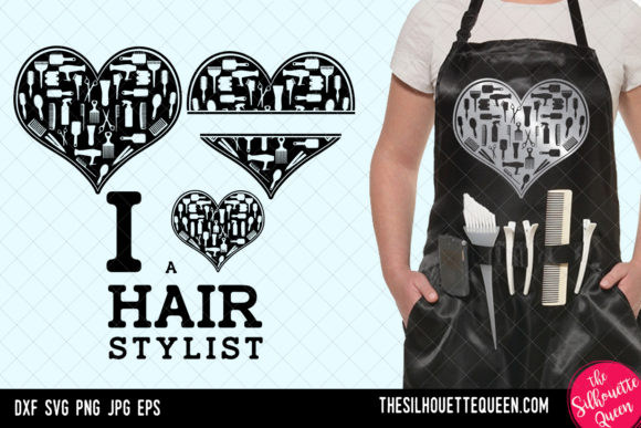Download Free Hairdresser Heart Valentines Day Graphic By for Cricut Explore, Silhouette and other cutting machines.