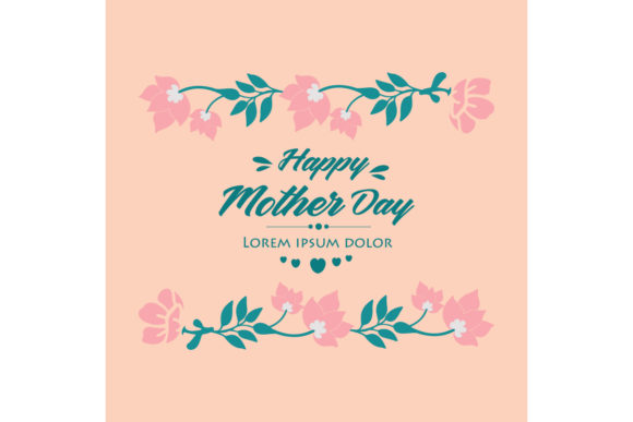 Download Free Happy Mother Day Elegant Card Design Graphic By Stockfloral for Cricut Explore, Silhouette and other cutting machines.