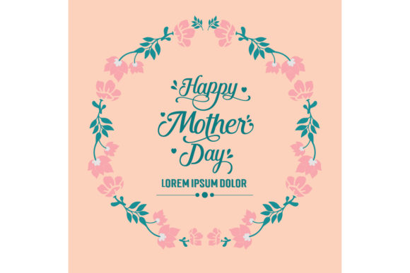 Download Free Happy Mother Day Invitation Cards Design Graphic By Stockfloral for Cricut Explore, Silhouette and other cutting machines.