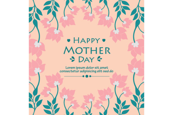 Download Free Happy Mother Day Modern Card Design Graphic By Stockfloral for Cricut Explore, Silhouette and other cutting machines.