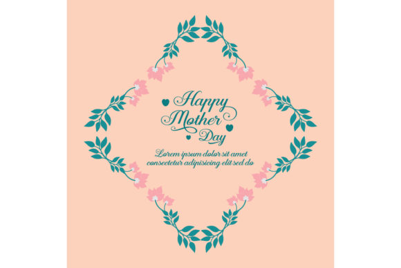 Happy Mother Day Poster Design Graphic By Stockfloral Creative
