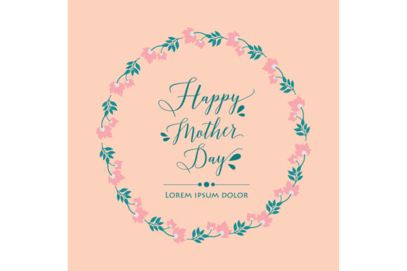 Happy Mother Day Poster Template Concept Graphic By Stockfloral