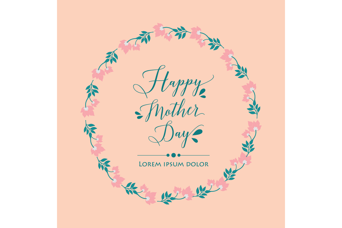 Download Free Happy Mother Day Poster Template Concept Graphic By Stockfloral for Cricut Explore, Silhouette and other cutting machines.