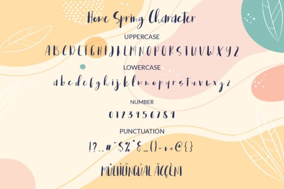 Home Spring Font Preview
