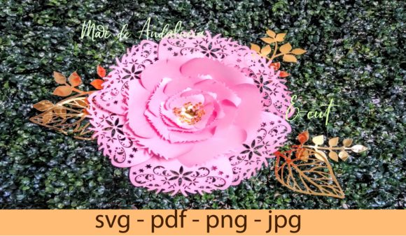 Download Free 2 Paperflowers Designs Graphics for Cricut Explore, Silhouette and other cutting machines.