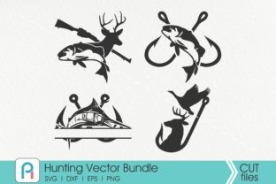 Download Free Hunting Fishing Hook Deer Graphic By Pinoyartkreatib for Cricut Explore, Silhouette and other cutting machines.